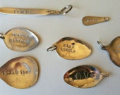 Vintage Silver Plated Custom Soup Spoon Keychains