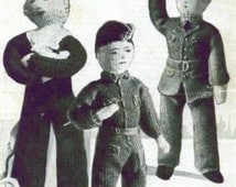 Knitting Patterns Toy Soldiers : Unique dolls of world related items Etsy