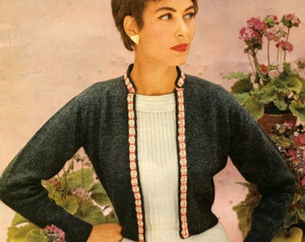 PDF Knitting Pattern for a Spanish Flair Bolero with a Fair Isle Banding  Design - 1950's - Instant Download