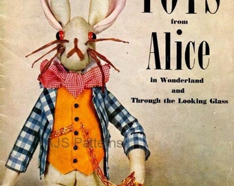 PDF Sewing Patterns for 1940's Vogue Toys from Alice In Wonderland