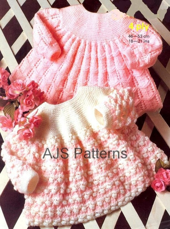 Knitting Pattern Angel Top : PDF Vintage Knitting Pattern for Sweet Babies Angel Top