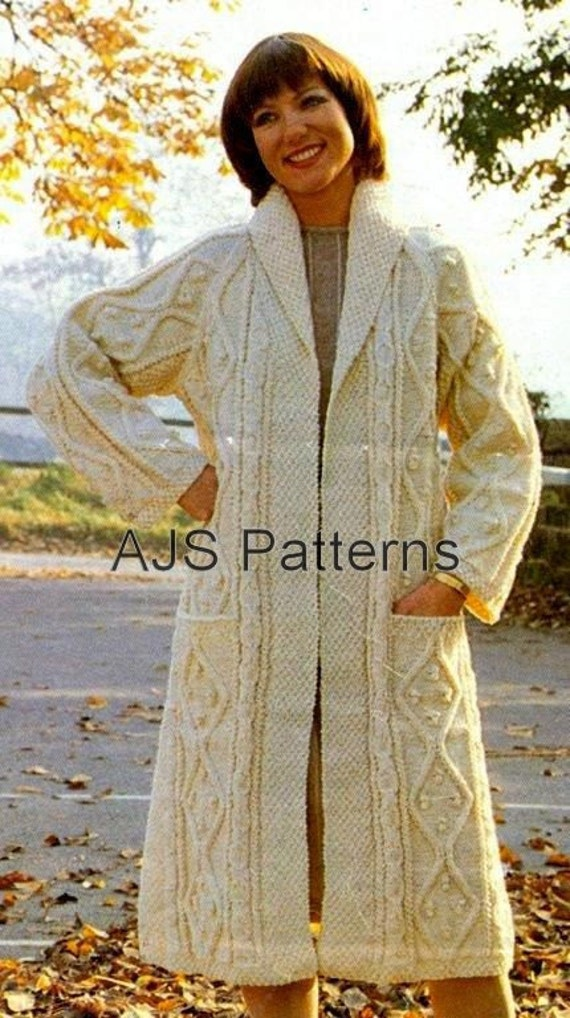 PDF Knitting Pattern for Ladies Aran Edge To by ...