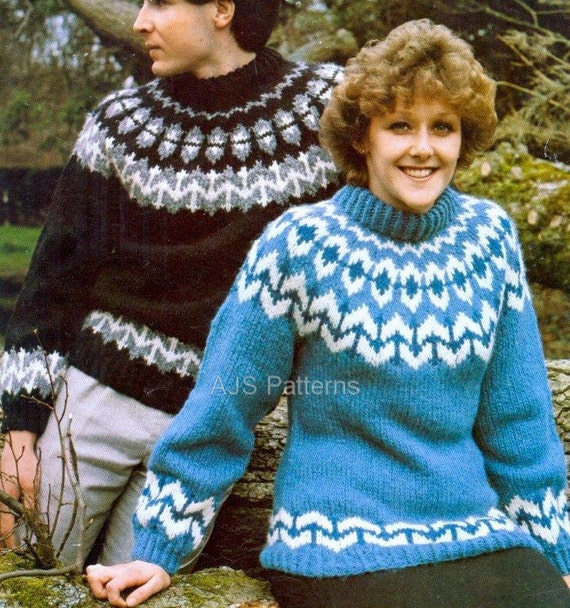 Pdf Knitting Pattern For A Unisex Norwegian Fair Isle Sweater