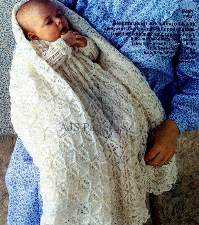 Christening Shawl Knitting Pattern Free : Christening Gowns Patterns Free images