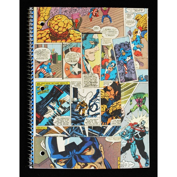 Captain America Notebook - The Avengers- back to school supplies - Marvel Comics