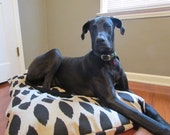 Ready to Ship Black/Denton Ikat Pet Bed Dog Duvet Cover-Medium