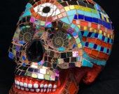 Life-size Mosaic Day of the Dead Skull