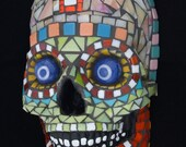 Mosaic Day of the Dead Skull for Your Wall