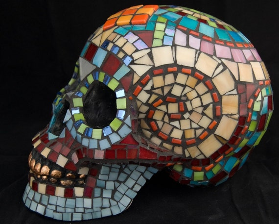 Life-size Dia de los Muertos Skull. Featured in 42 Treasuries and counting.