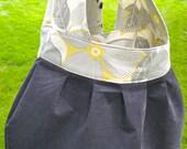 Charcoal Blossom Bag