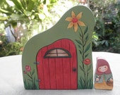 WOOD TOY SET-Story Door No. 2-Whimsical Habitat-Ms Gnome-Home Decor-Pretend Play-Waldorf Inspired