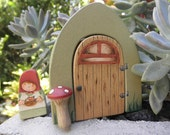 WOOD TOY SET-Story Door-Magic Portal-Mama Gnome-Pretend Play-Waldorf Inspired