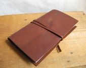 """Refillable Leather Journal, """"Straight Laced Louise"""""""