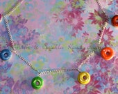 Rainbow Donuts Necklace