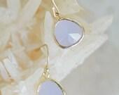 light grey drop earrings