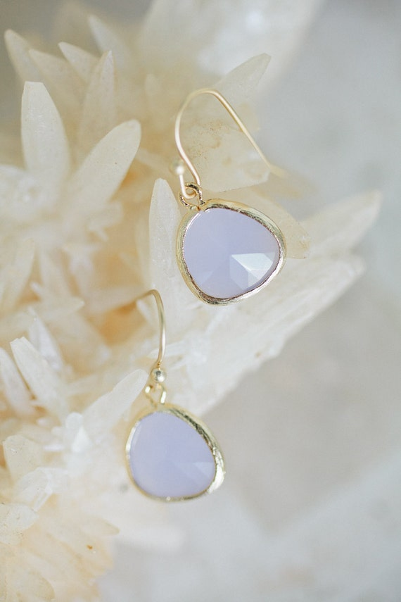 light grey drop earrings