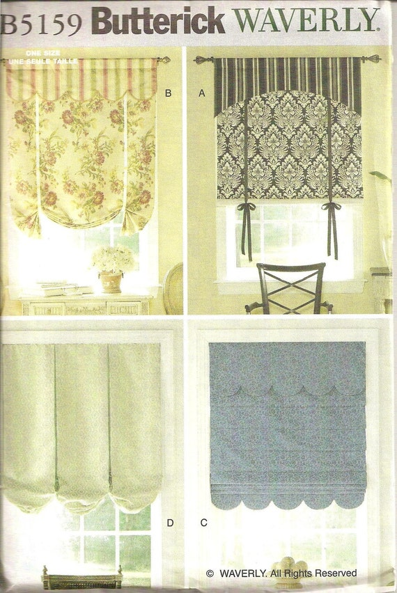 Butterick Waverly Curtain Pattern By Littlenphotoprops On Etsy