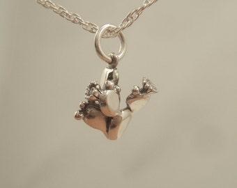 silver cactus pendant/charm