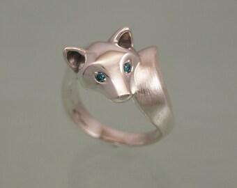 shiba inu   (  pick your favorite diamond color)   high polish / textured tail