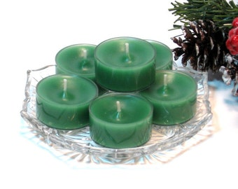 Tealight candles Evergreen scent set of six