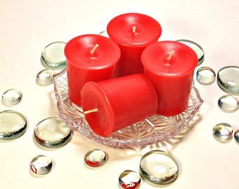 4 pack votive candles Fresh Strawberry scent