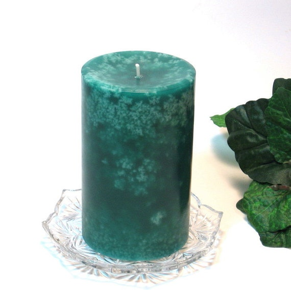 Pillar candle Midnight Jasmine scented mottled look