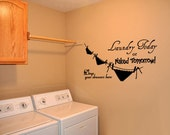 BIG Laundry Room 4 - Vinyl Wall Quote Decal