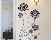 BIG Chrysanthemum Flower Vinyl Wall Decal