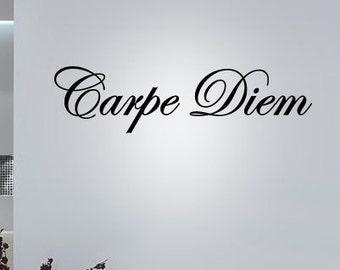 BIG Carpe Diem - Vinyl Wall Quote Decal