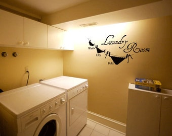 BIG Laundry Room 1 - Vinyl Wall Quote Decal
