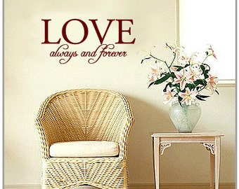 Love always and forever - Vinyl Wall Quote Decal