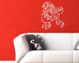 POODLE Wall Decals