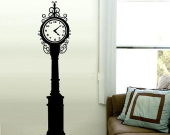 Vintage Street Clock Tower Vinyl Wall Art Decal