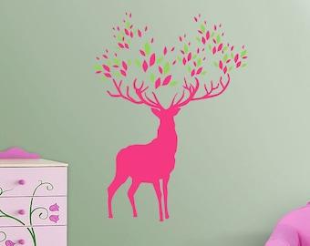 BIG Buck Deer Vinyl Wall Art Decal (2 colors)