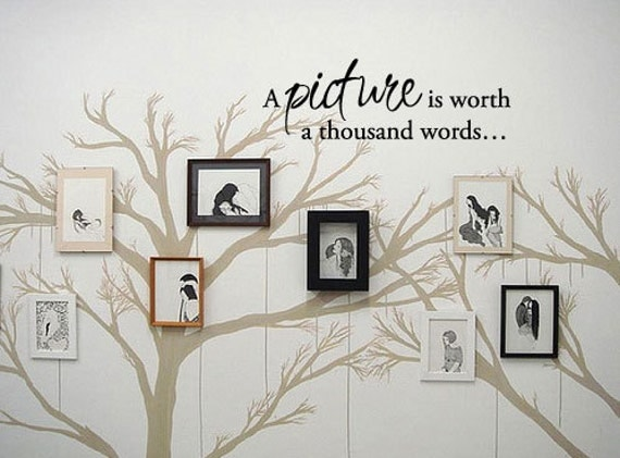 A picture is worth a thousand words... - Vinyl Wall Quote Decal