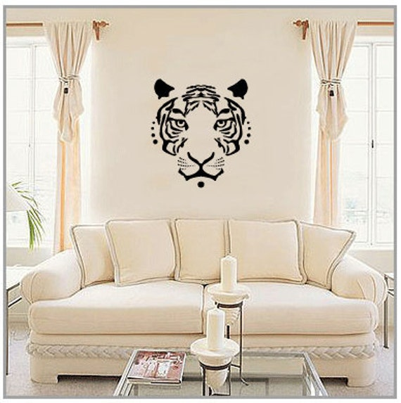 TIGER FACE Vinyl Wall Art Decal