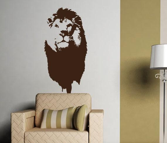 Lion Face Ver.2 Vinyl Wall Art Decal