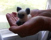 Felt Siamese Kitten / Waldorf Soft Toy / Miniature Cat Figurine / Needle Felted Wool Animal / Wool Felt Pet