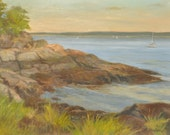 Shoreline At Water's Edge Lmtd Ed Art Print, Manor Park Landscape Print, from Original Oil Painting by P. Tarlow
