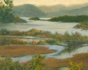 Hudson River Art, Oil Landscape Art Print, Hudson River Print, Boscobel Art, Hudson Highlands Print, Home Decor Wall Art by P. Tarlow