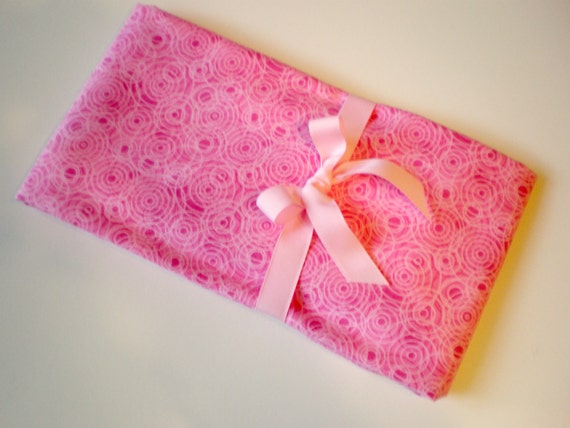 Special Order For Kelly Extra Large Receiving Blanket or Nursing Cover in a Bright Pink Circle Print