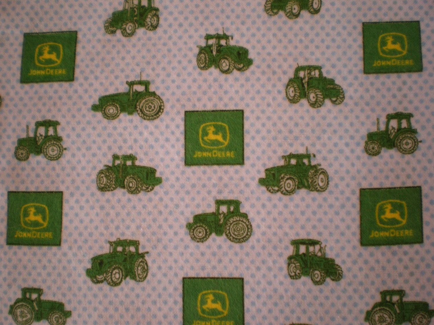 John Deere Fabric : John deere tractor soft cotton flannel fabric by cuddlesmore