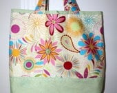 Flower Cotton Tote Bag