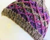 Modern women's hat in natural alpaca blend with donation