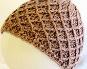 Rose Winter Hat - Hand Knit Beanie - Geometric Womens Accessory - Warm Chunky Winter - Tree Donation