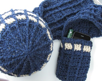 Free Crochet Pattern Tardis Hat : We bring imaginations to life with yarn. by KnitsForLife ...