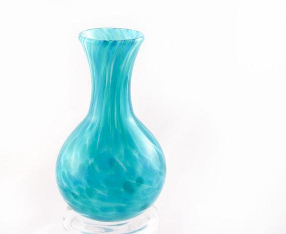 Glass Bud Vase - Teal Sea Green - best friend gift for mom - Flower Vase Under 50 - dreamt oht ateam teamcamelot