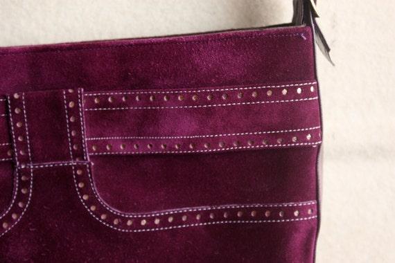 70's 80's Charles Jourdan grape purple shoulder bag