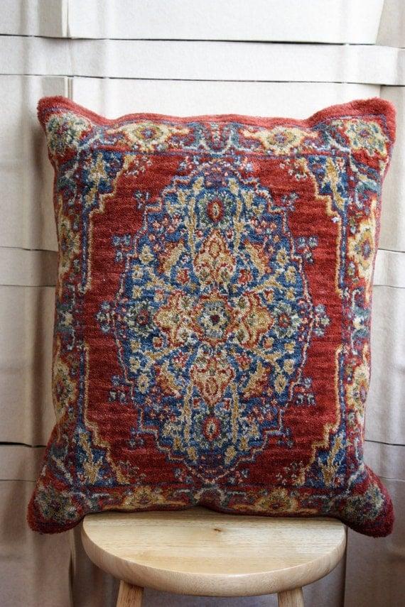 Large persian/turkish  carpet pillow