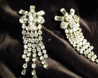 Rhinestone chandelier earrings vintage bridal